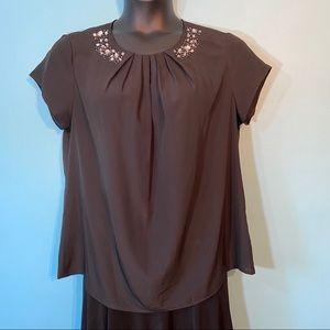 🛍3/$25 Jessica black pleated blouse